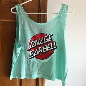 Savage Barbell Tank Top SMALL